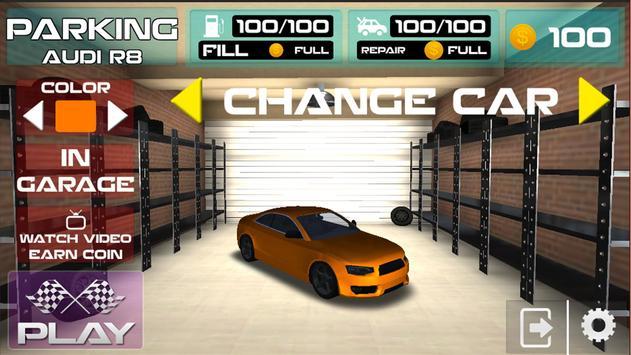 Parking Audi R8 Simulator Games 2018 screenshot 3