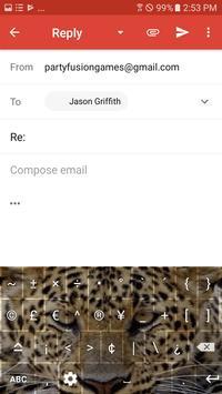 Wild Leopard Keyboard Theme Free Themes screenshot 7