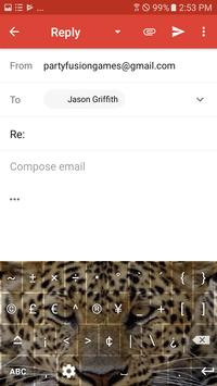 Wild Leopard Keyboard Theme Free Themes screenshot 3