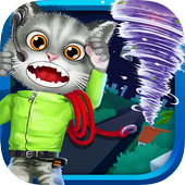 Baby Kitty Fireman: Hero Game icon