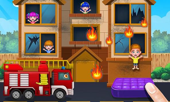 Baby Kitty Fireman: Hero Game apk screenshot