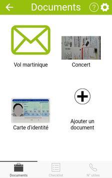 Porte documents et checklist poster
