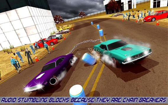 Impossible Chained Cars Stunt Game screenshot 4