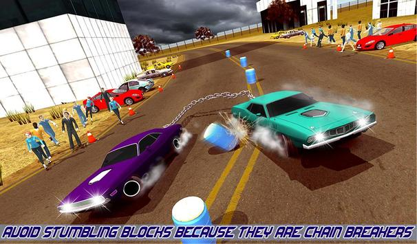 Impossible Chained Cars Stunt Game screenshot 8