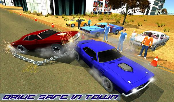 Impossible Chained Cars Stunt Game screenshot 9