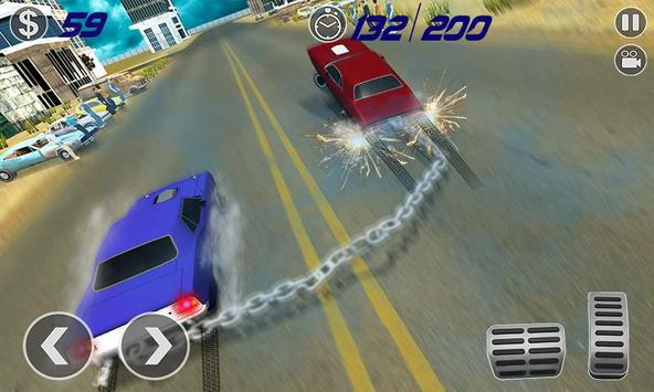 Impossible Chained Cars Stunt Game screenshot 2
