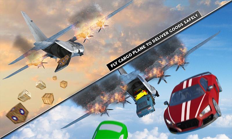 Cargo Plane Flight School: Car Transport Game 2018 for