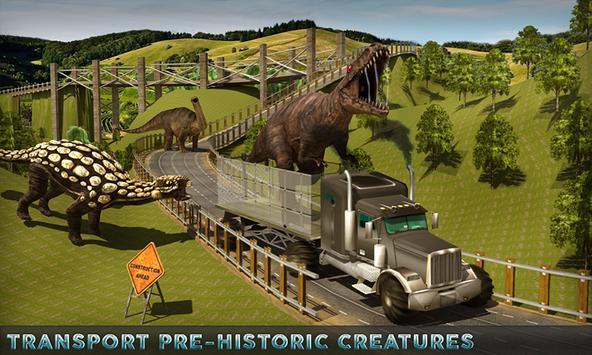 Jungle Dino Truck Transport 3D poster