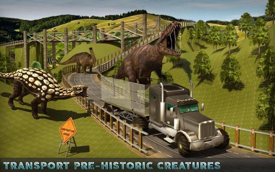 Jungle Dino Truck Transport 3D apk screenshot