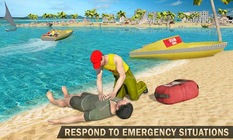 Beach Lifeguard Rescue Squad: Motor Boat Driving 1
