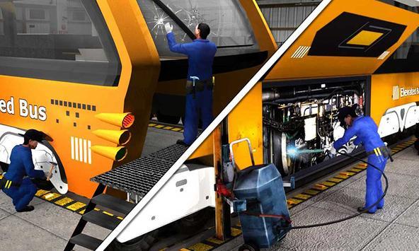 Bus Mechanic Auto Repair Shop-Car Garage Simulator apk screenshot