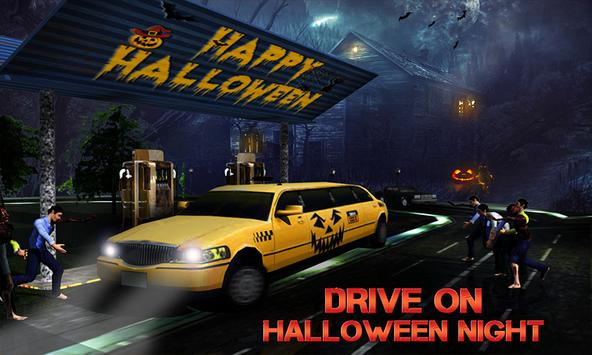 Halloween Night Taxi Driver 3D poster
