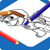 Paw Coloring Kids icon