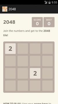 2048 - the best game poster