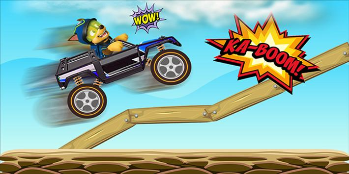 Super Paw Puppy Driver poster