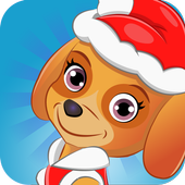 Christmas paw hidden object icon