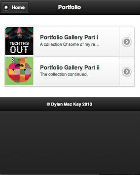 Dylan Mac Kay ePortfolio apk screenshot