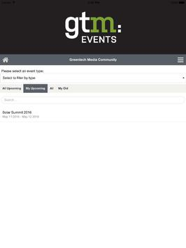GreenTech Media Events apk screenshot