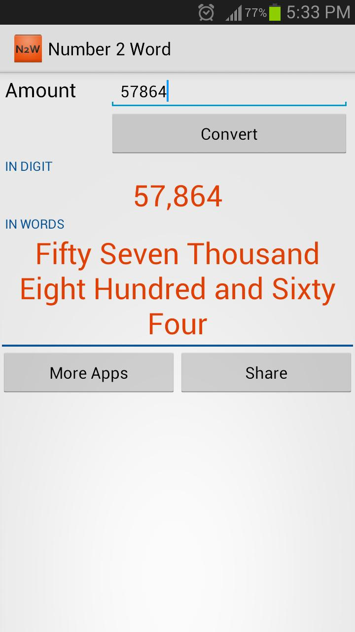Number to Word Converter - N2W for Android - APK Download