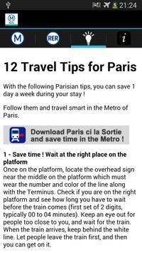 Metro Map Paris - Map and Tips screenshot 11