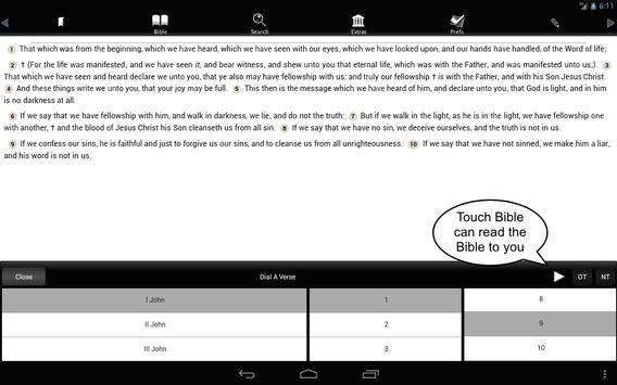 Touch Bible (KJV Only Bible) apk screenshot