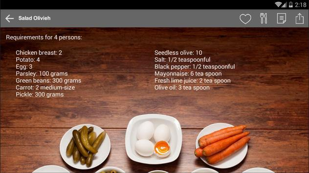 Persian Cook | آشپز ایرانی apk screenshot
