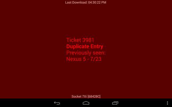 PatronTicket Barcode Scanner apk screenshot