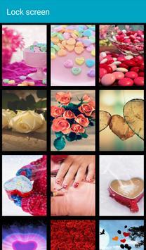 Valentine Pattern Lock Screen apk screenshot