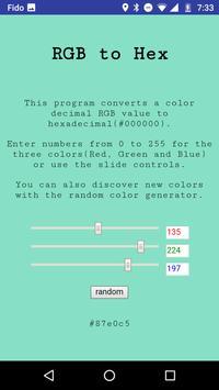 RGB to Hex apk screenshot