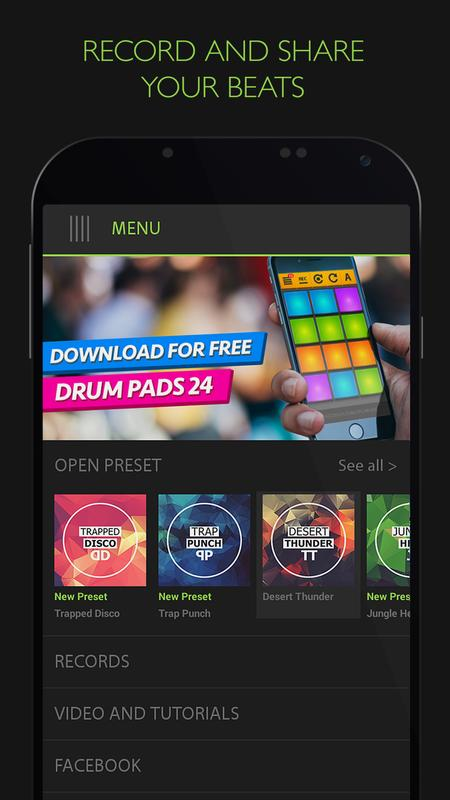trap drum pads 24 make beats music apk download free music audio app for android. Black Bedroom Furniture Sets. Home Design Ideas