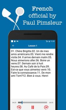 French - Dr. Paul Pimsleur audio course manager poster