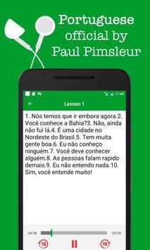 Portuguese - Dr. Paul Pimsleur audio course poster