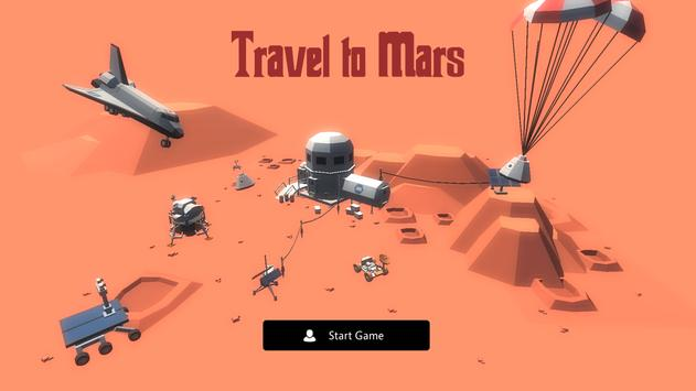 Travel to Mars poster