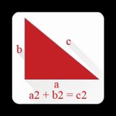 The Pythagorean theorem icon