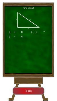 The Pythagorean theorem apk screenshot