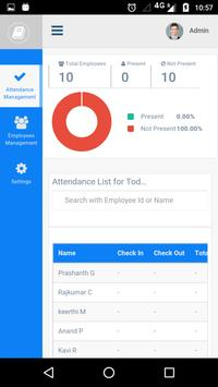 CheckInAdmin Manage Attendance apk screenshot