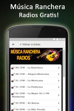 Música Ranchera Radios apk screenshot