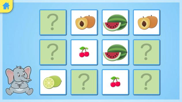 Jeu memory - les fruits screenshot 2