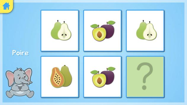 Jeu memory - les fruits screenshot 4