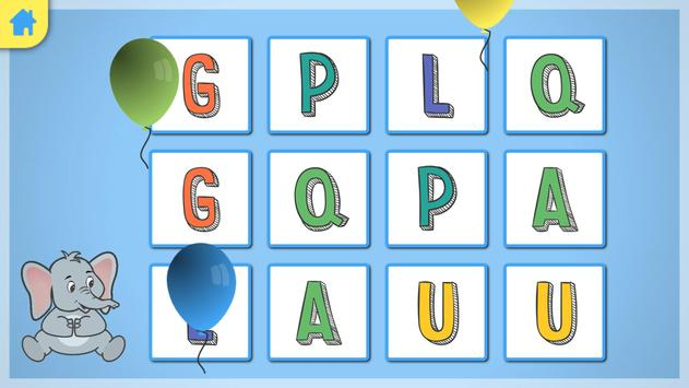 Jeu memory - l'alphabet screenshot 2