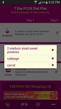7 Day PCOS Diet Plan apk screenshot
