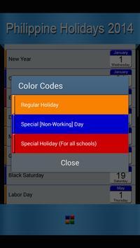 Holiday List screenshot 1