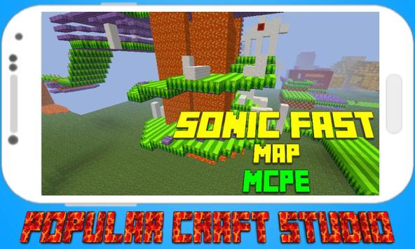 Fast Sonic Map for MCPE apk screenshot