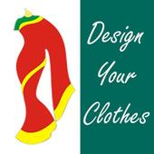 Fashion Design and saree design icon