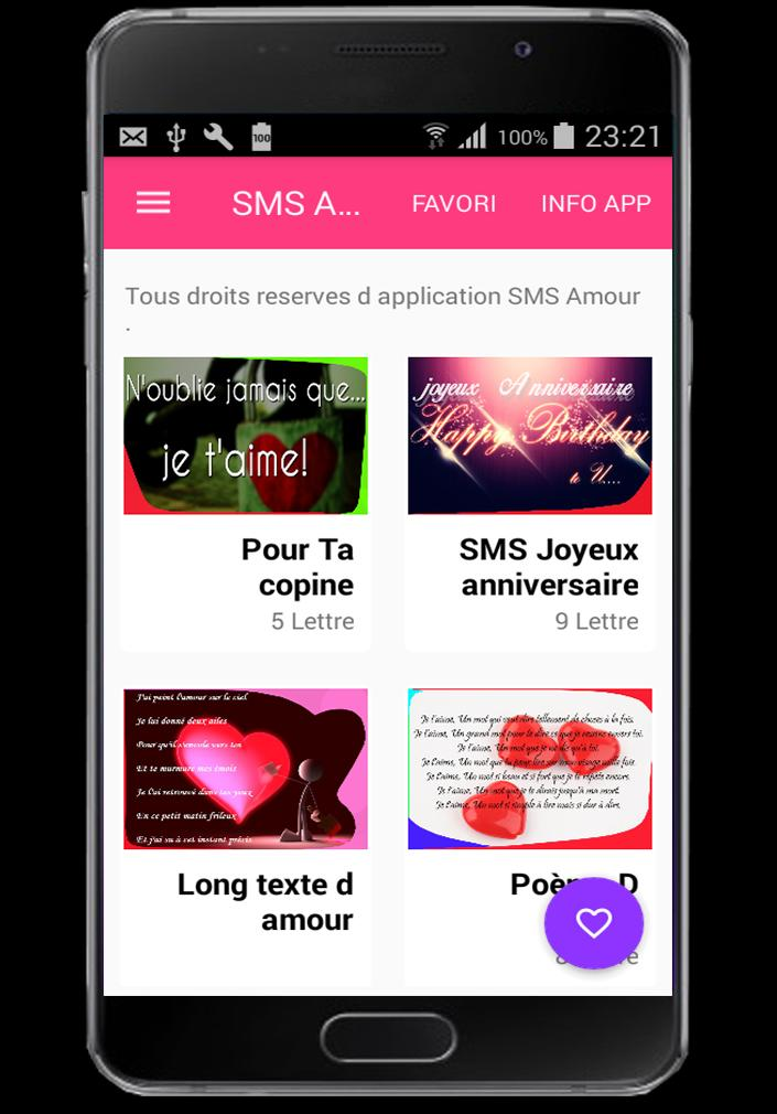 Sms D Amour For Android Apk Download