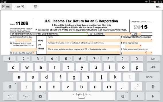 IRS Form 1120 S: Sign Income Tax Return eForm for Android - APK Download