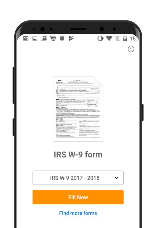 Irs W 9 Form Apk Download Free Business App For Android Apkpure