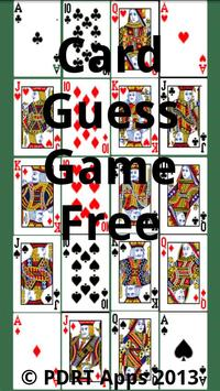 Card Guess Free poster