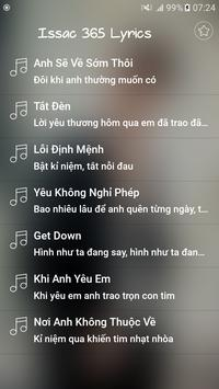 Isaac 365 Lyrics screenshot 3