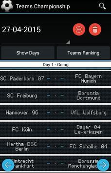 Teams and Tournament Generator apk screenshot